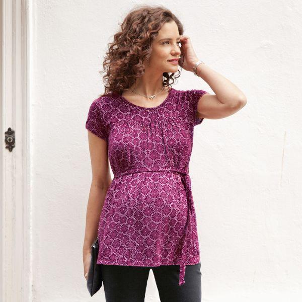 Camiseta Premamá Estampado Beaujolais