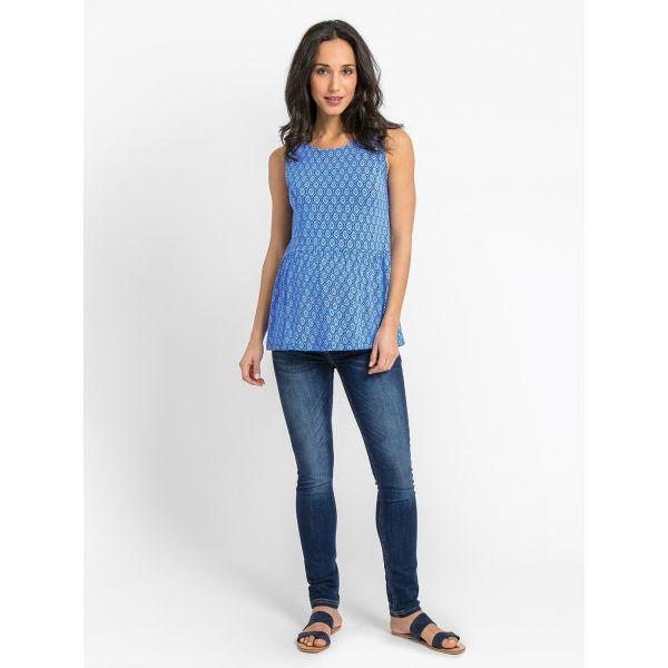 Camiseta Premamá Manga Corta Batik Azul