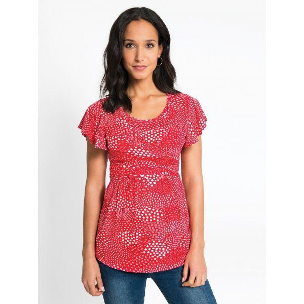 Camiseta Premamá y Lactancia Geo Roja