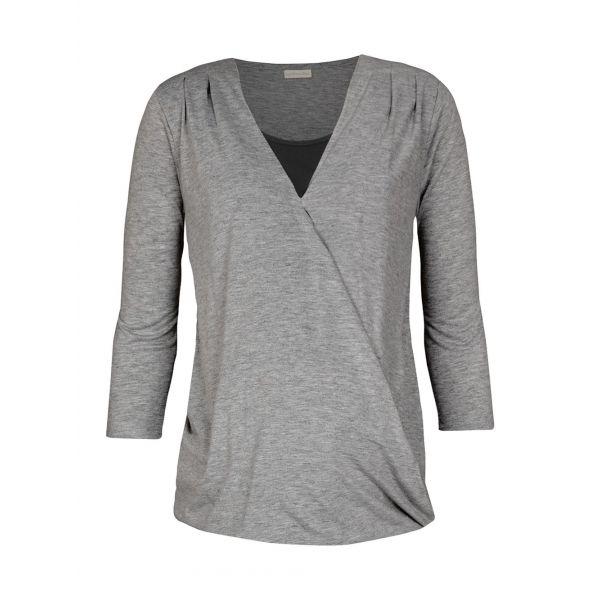 Camiseta Premamá y Lactancia Gris