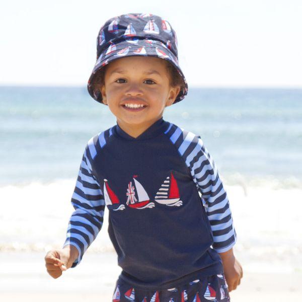 Camiseta Protección Solar Bebé y Niño Veleros