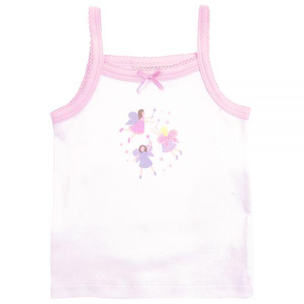 Camisetas Interiores Niña Pack de 3 unidades Blancas y Rosas