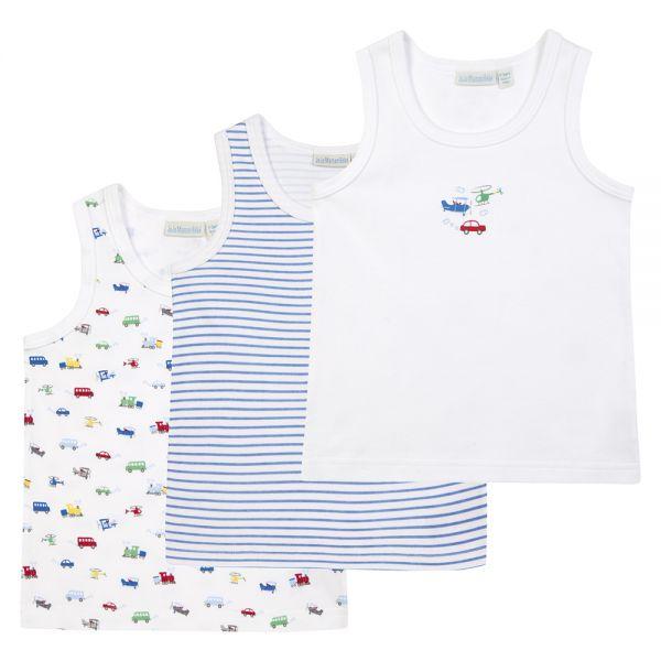Camisetas Interiores para Niño con estampado de Coches y Camiones