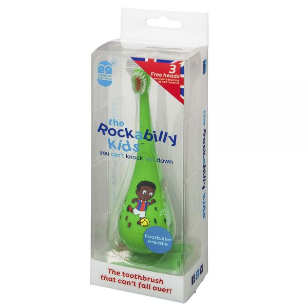Cepillo de dientes para Niños Rockabilly Verde Futbolista