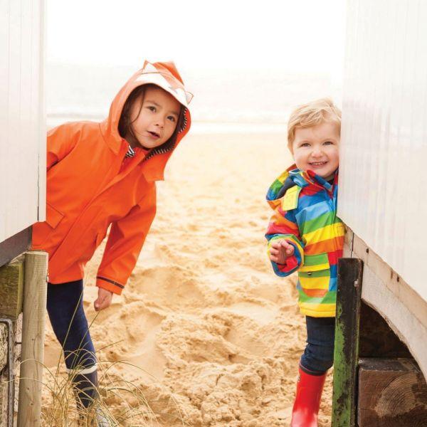 Chubasquero para bebés y niños Impermeable Zorro Naranja