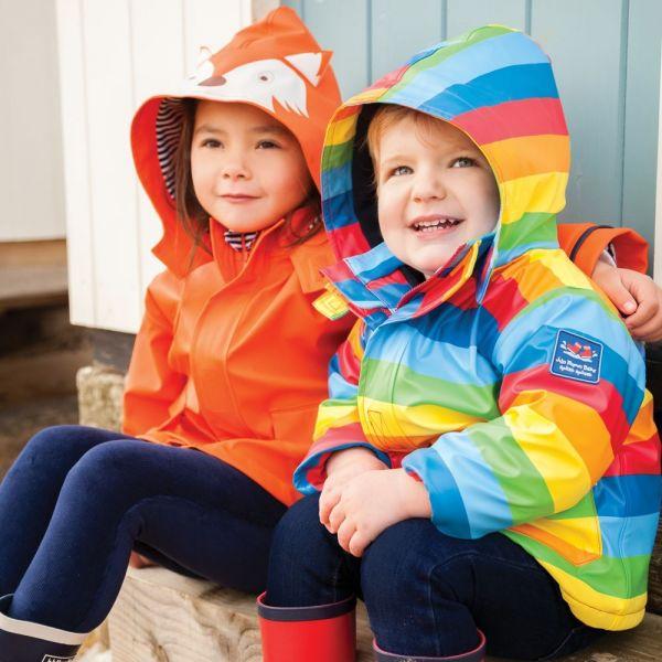 Chubasquero para Niños Impermeable Arco Iris