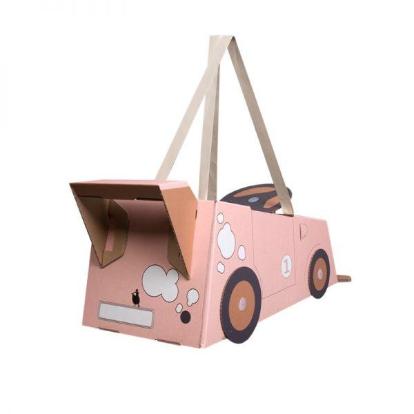 Coche de Cartón rosa Mister Tody