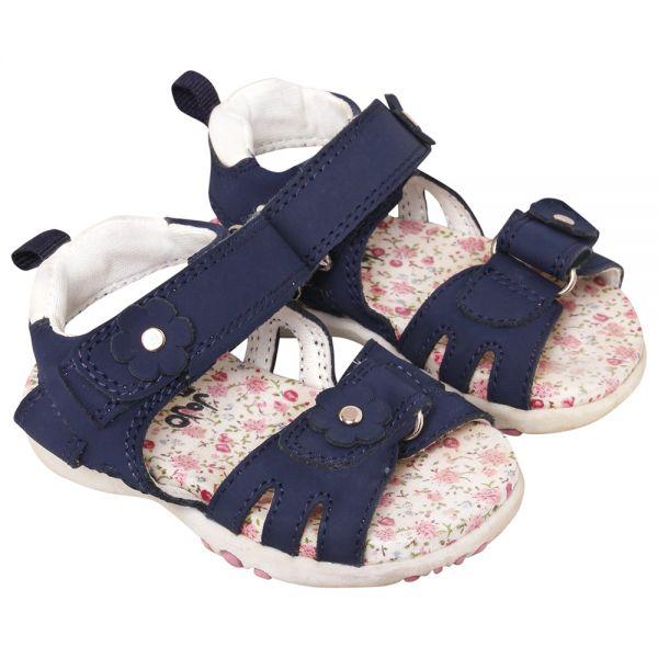Sandalias de Piel para Niñas y Bebés - Color Azul Marino