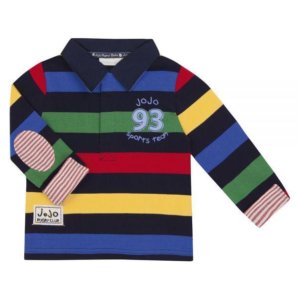 Camiseta Cuello Polo de Rayas de Colores
