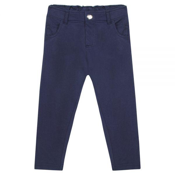 Pantalón de niña corte slim color Azul marino