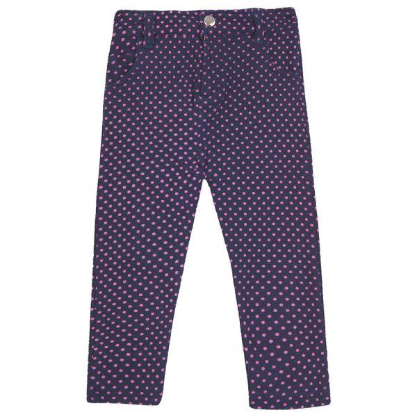 Pantalón de Algodón Slim - Lunares