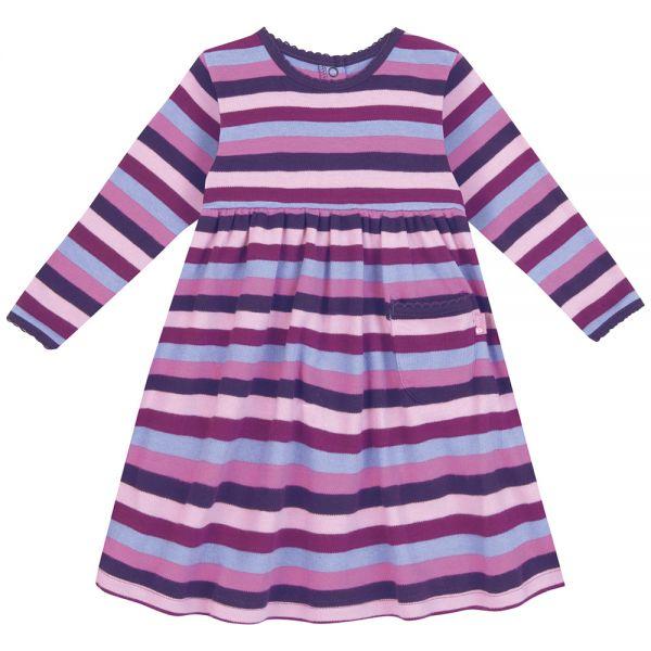 Vestido de Niña a Rayas Lila