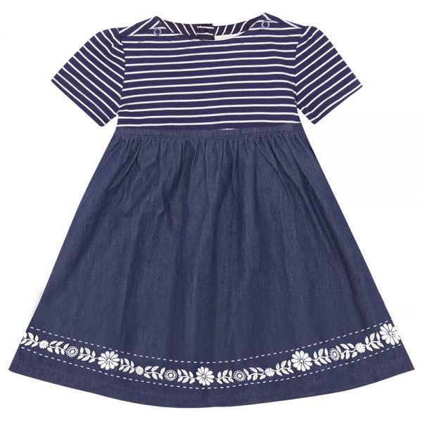 Vestido de Verano para Niña - Estampado Denim