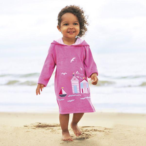 Albornoz ni a playa y piscina color rosa shopmami - Albornoz nina ...