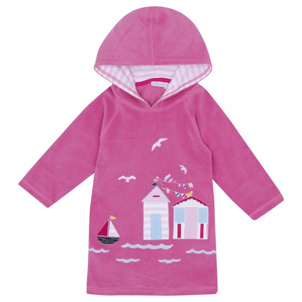 Albornoz Niña Playa y Piscina Color Rosa