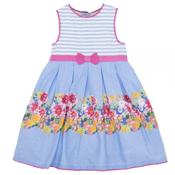 Vestido de Fiesta para Niñas - Azul Cielo