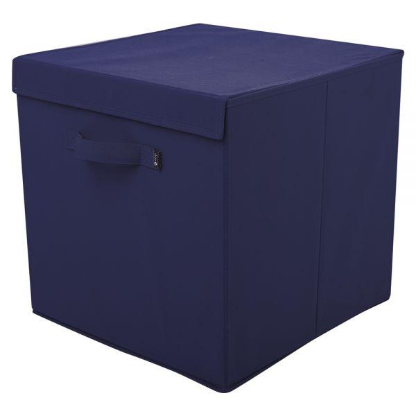 Caja Plegable de Tela para guardar juguetes con Tapa color Azul