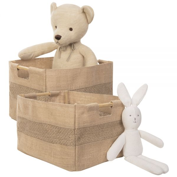 Cestas de Tela para Organizar Juguetes - Pack de 2 - Pequeñas