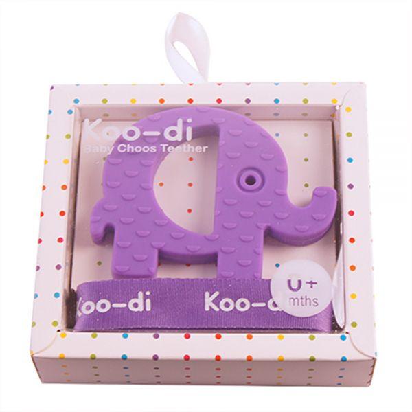 Mordedor para Bebés con Correa de la marca Kood-di Elefante