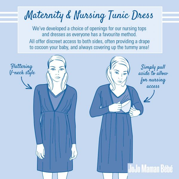 Vestido de Embarazo y Lactancia Navy Geo