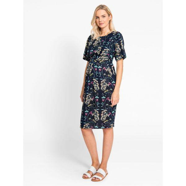 Vestido de Embarazo y Lactancia Navy Floral