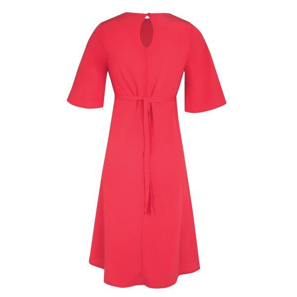 Vestido de Embarazo y Lactancia Rojo Bordado
