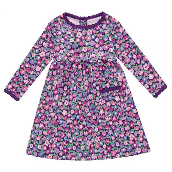 Vestido de Niña de Algodón Estampado Bloom