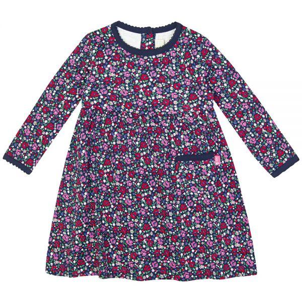 Vestido de Niña de Algodón Estampado Floral