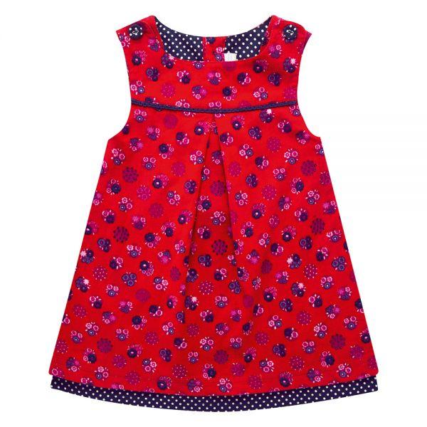 Vestido de Niña de Pana - Flores
