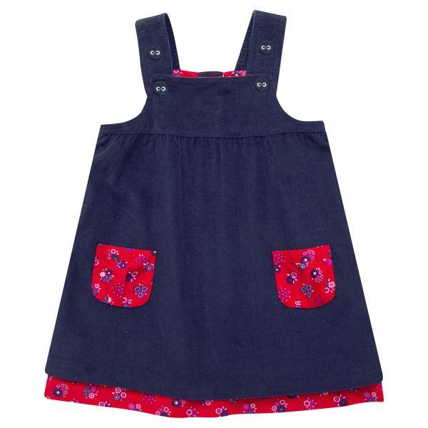 Vestido de Peto para Niñas - Bicolor
