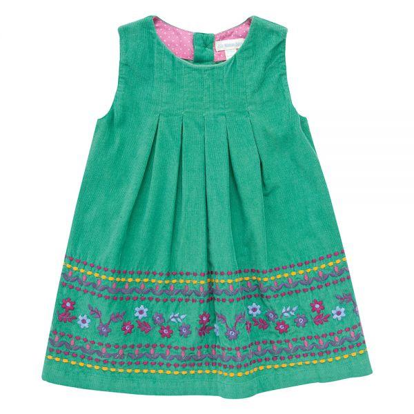 Vestidos para Niña de Pana en color verde