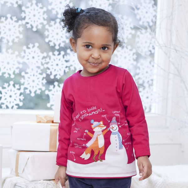 Camiseta de Niña - Muñeco de Nieve