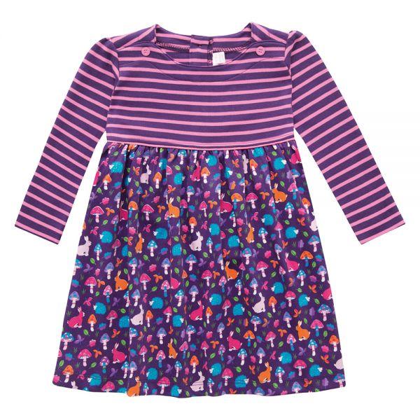 Vestido Niña de Algodón color Frambuesa