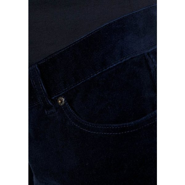 Pantalón Premamá de Pana Recto - Azul Marino