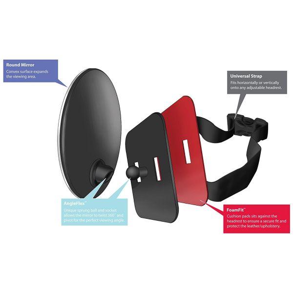 Espejo Trasero de coche para  Bebés con Visión 360º de Diono