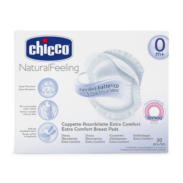 Discos de Lactancia Chicco antibacterias - 60 Unidades