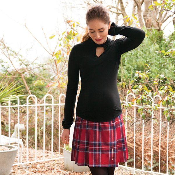 Falda Premamá Escocesa