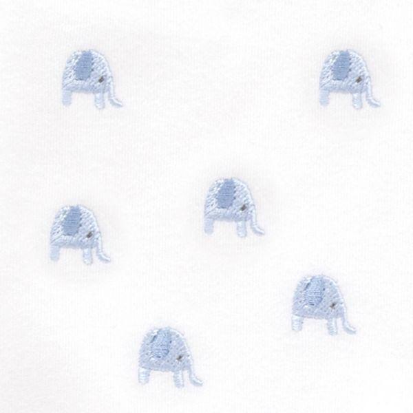 Gorrito Bebé Algodón Bordado Elefantes Azules