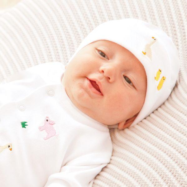 Gorrito Algodón Bebés Patitos