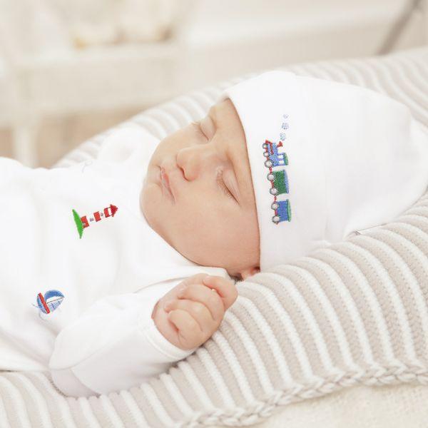 Gorrito Algodón Bebés Transportes