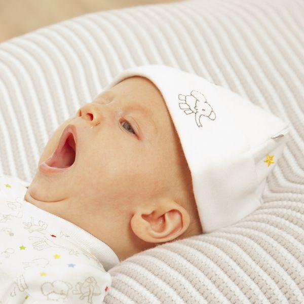 Gorrito Bebé de Algodón Bordado Estrellitas