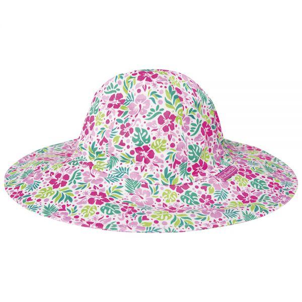 Sombrero con Protección Solar para Bebés y Niñas Hibisco Rosa