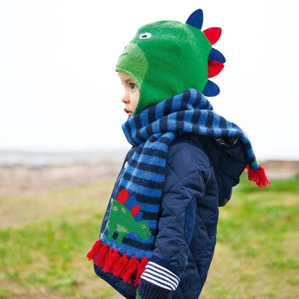 Gorro de Lana para Niños Dinosaurio