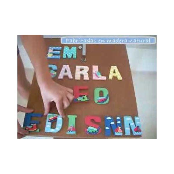 Letras de Madera Infantiles para Nombre de Niño