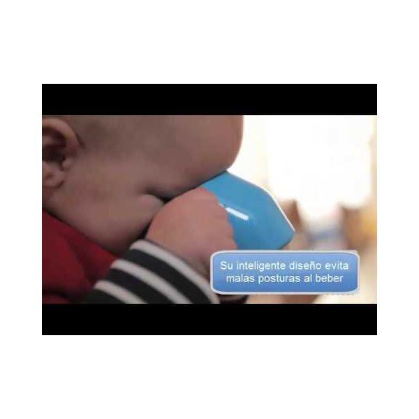 Vaso de aprendizaje para bebés de Doydy. Azul
