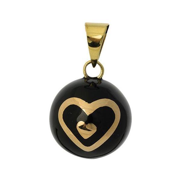 Llamador de Ángeles Corazón Negro