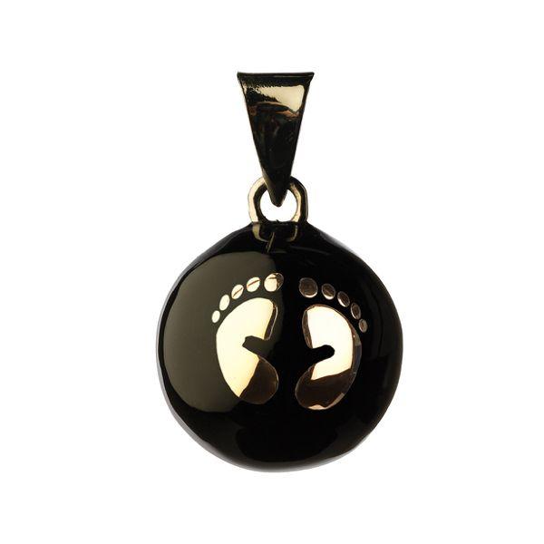 Llamador de Ángeles Negro con Pies - Babylonia
