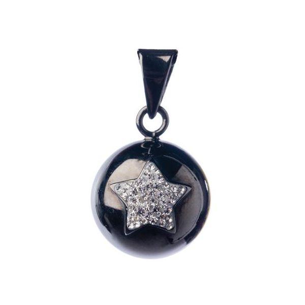 Llamador Ángeles Negro con Estrella Brillante