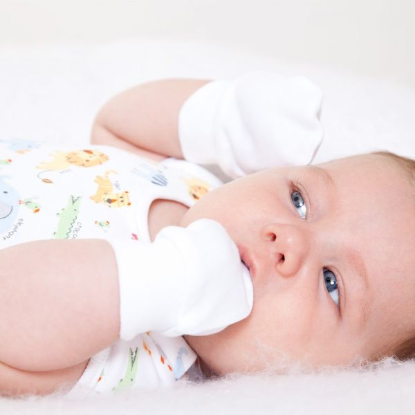 Manoplas Antiarañazos para Bebés Blancas - 3 Pares