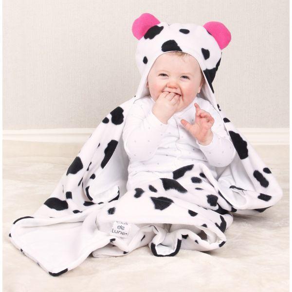 Manta para Bebés con Capucha Diseño Vaquita